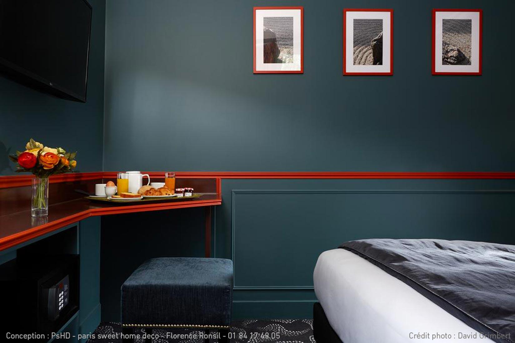 paris sweet home deco HOTEL daguerre Montparnasse rénovation décoration chambre