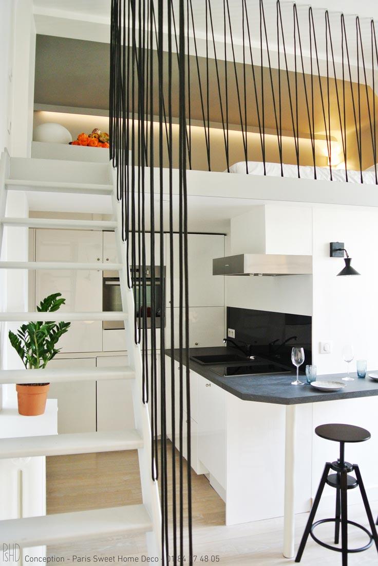paris sweet home deco Airbnb champs elysées rénovation décoration cuisine