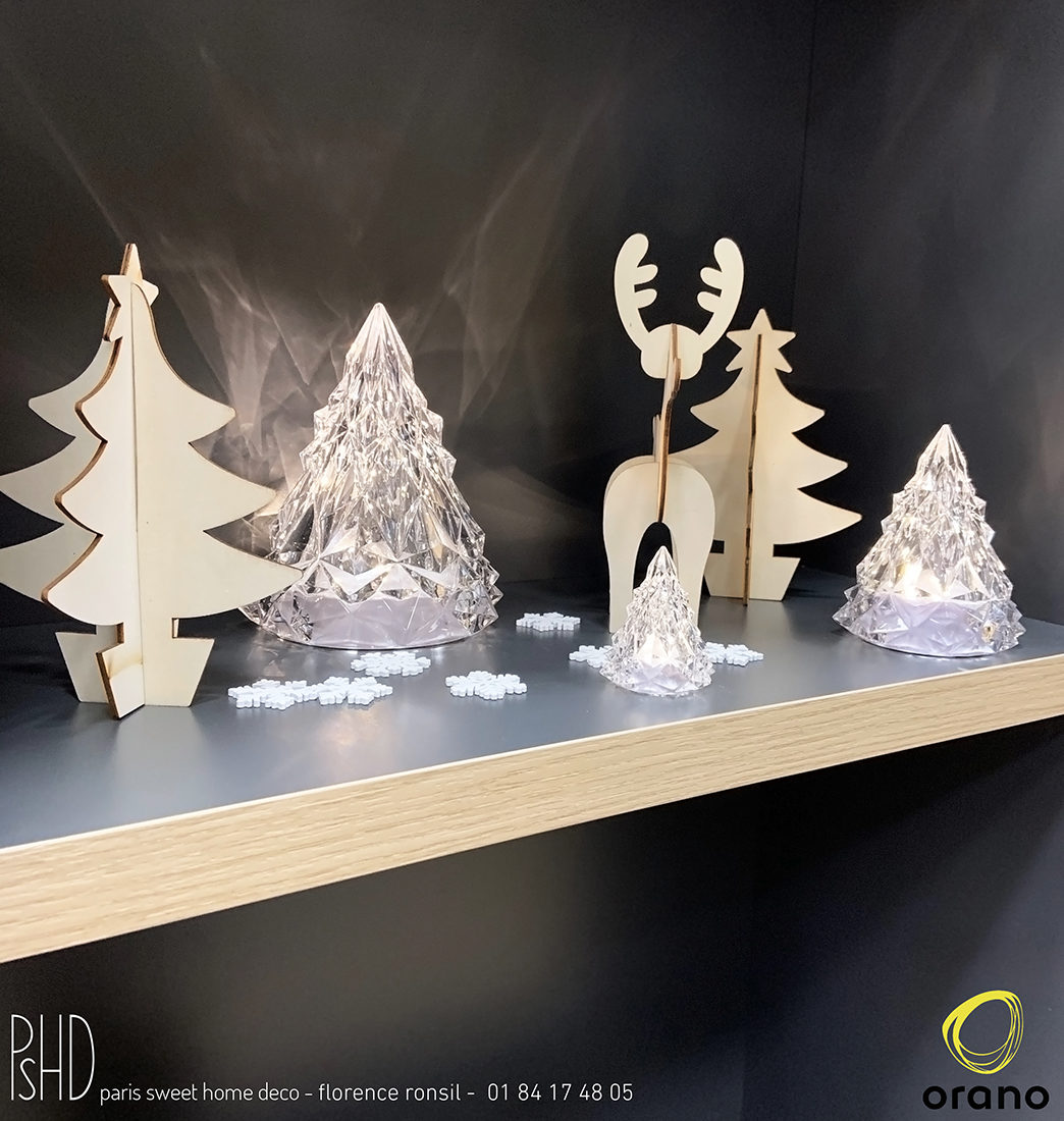 Scénographie évènementielle de bureaux – Orano – Areva – décoration de Noël